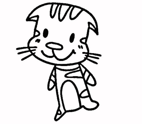 教你如何画小猫 站立的小猫