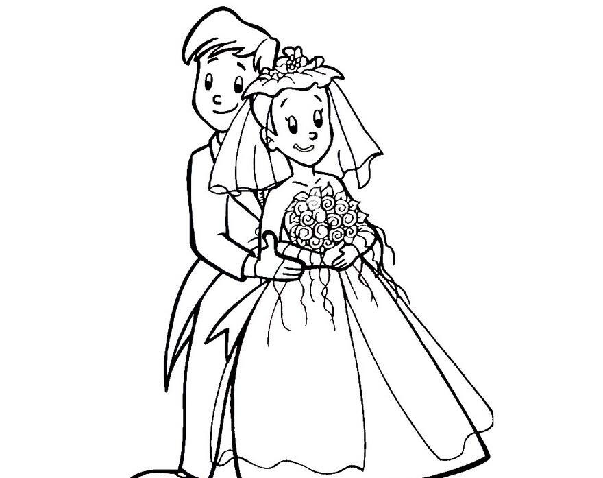 我们结婚了_人物简笔画-e学堂