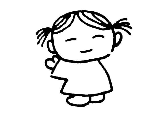 求一些卡通人物正面全身简笔画(彩色)萌版的那种