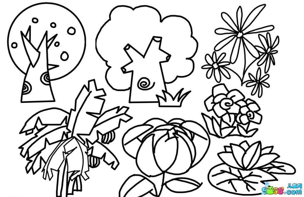 新手临摹植物线稿素材