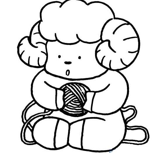 超萌的可爱小羊
