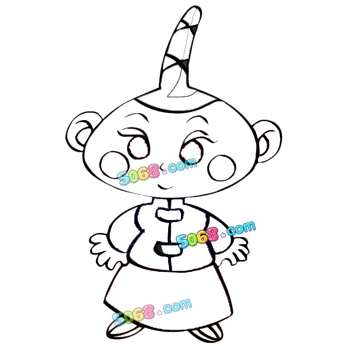 可爱古代小人_人物简笔画-e学堂