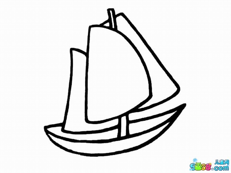 小船卡通简笔画