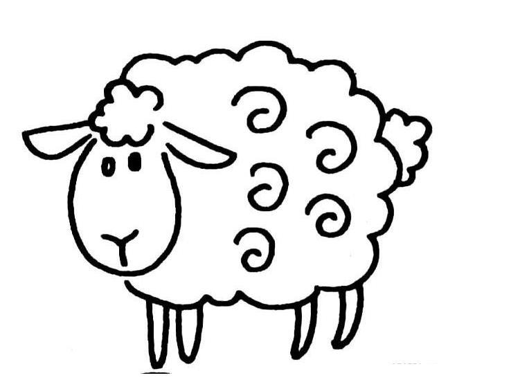 呆呆的羊_动物简笔画-e学堂