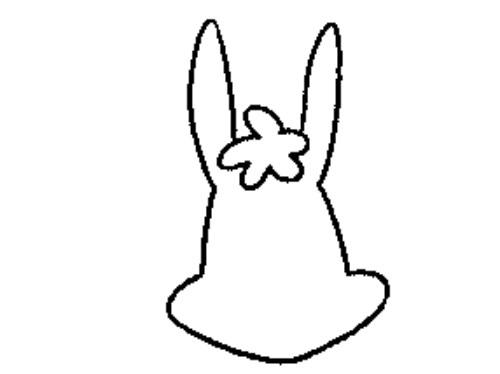 教你如何画开心兔 开心的兔子