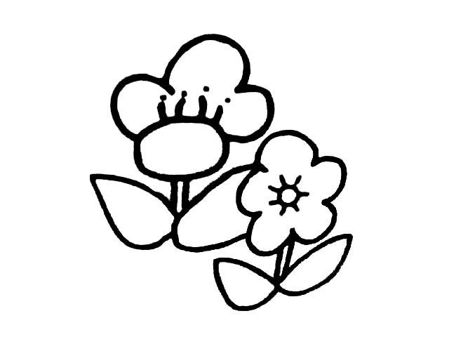 简单小花朵_植物简笔画-e学堂