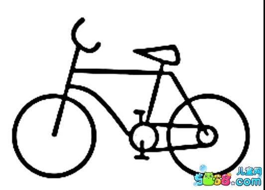 我的自行车_风景简笔画-e学堂