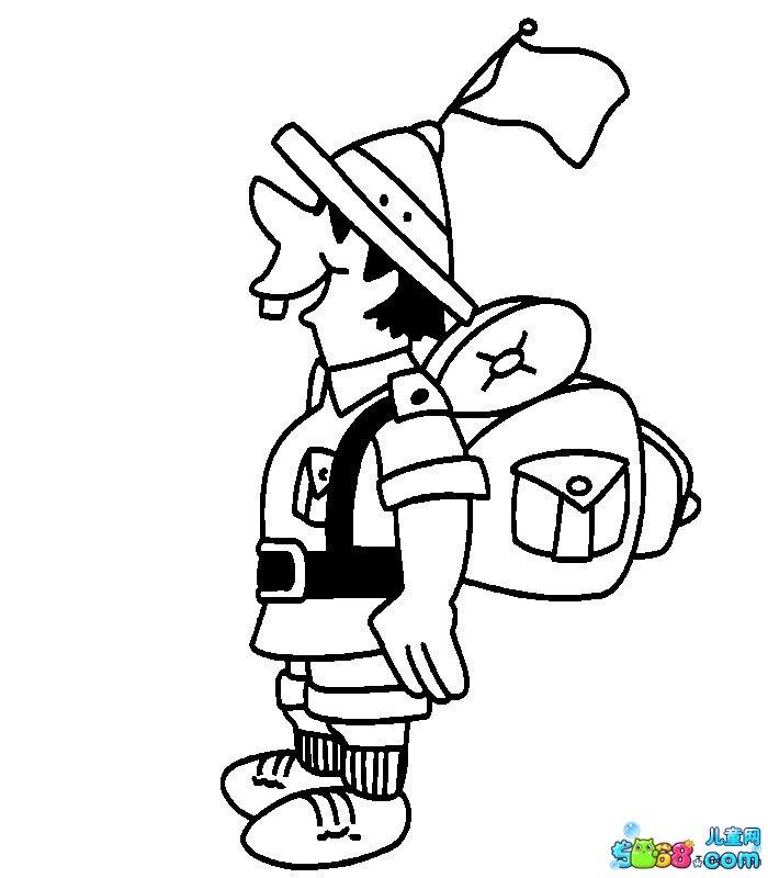 旅行者手绘简笔画