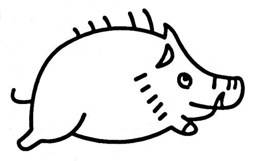 幼儿简笔画小动物猪