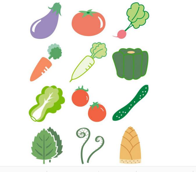蔬菜简笔画可爱