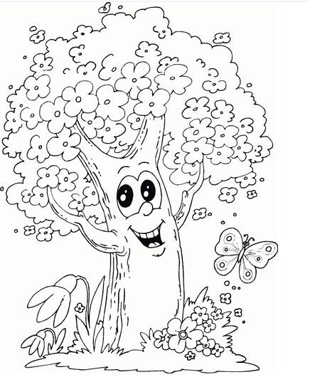大树简笔画 漂亮