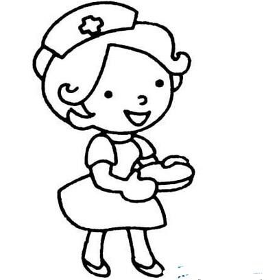 可爱的小护士_人物简笔画-e学堂