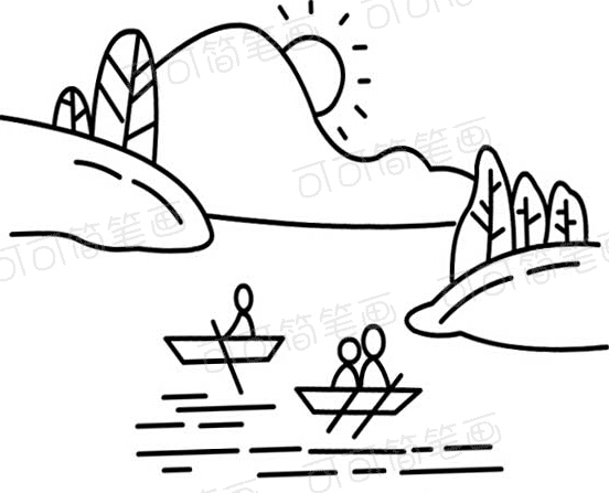 划船简笔画视频大全