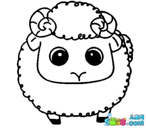可爱的小绵羊_动物简笔画-e学堂