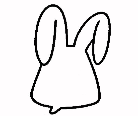 可爱的小兔子_动物简笔画-e学堂