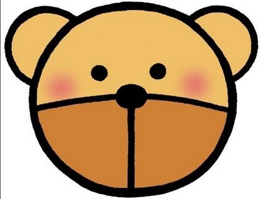 可爱的小熊头像_动物简笔画-e学堂