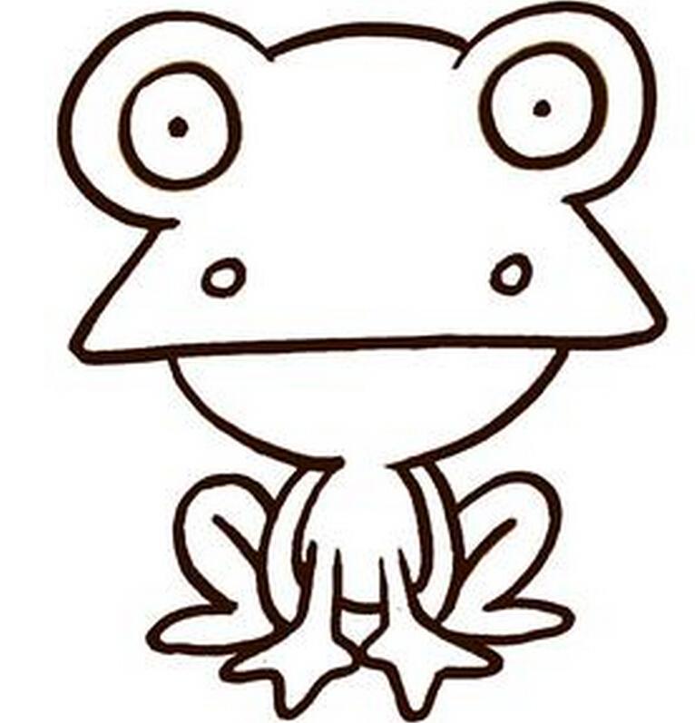 青蛙_动物简笔画-e学堂