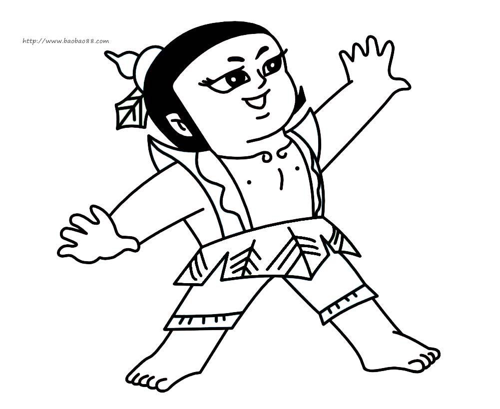 葫芦娃_人物简笔画-e学堂图片