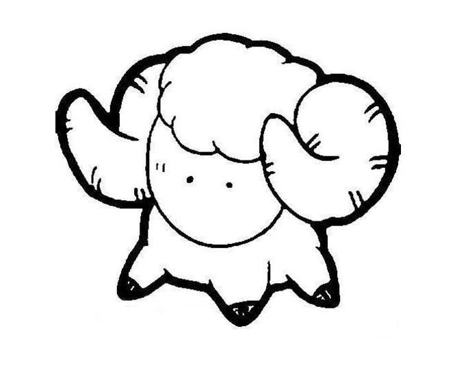 幸运羊羊羊_动物简笔画-e学堂