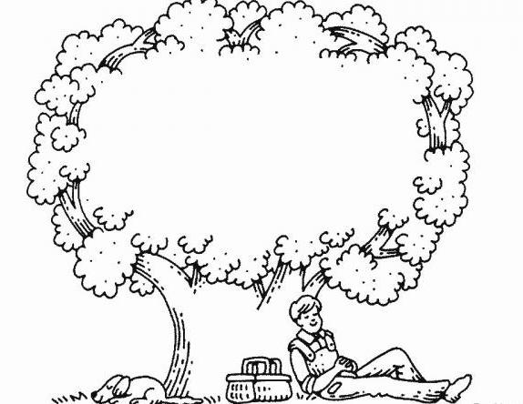 智慧树简笔画