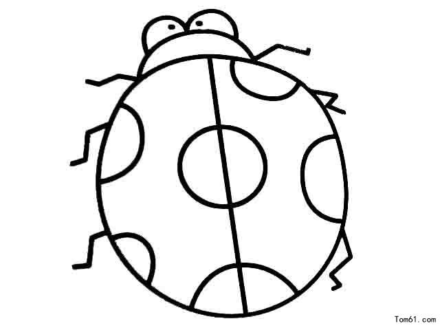 七星瓢虫飞行简笔画