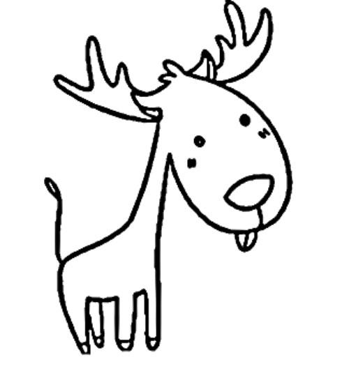 麋鹿简笔画步骤