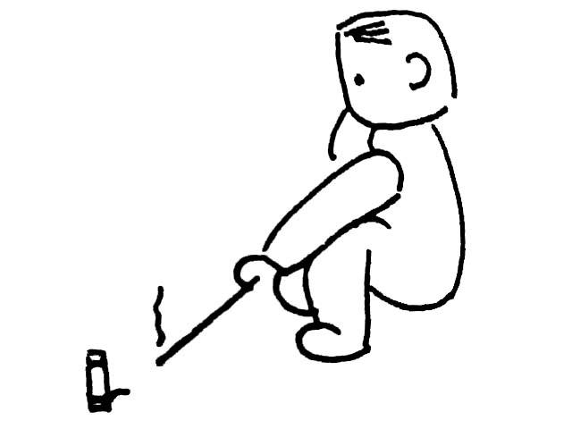 苗年过年儿童放鞭炮简笔画