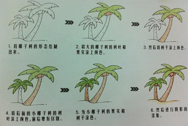 海边的椰子树_植物简笔画-e学堂