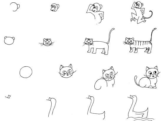 可爱小动物_动物简笔画-e学堂
