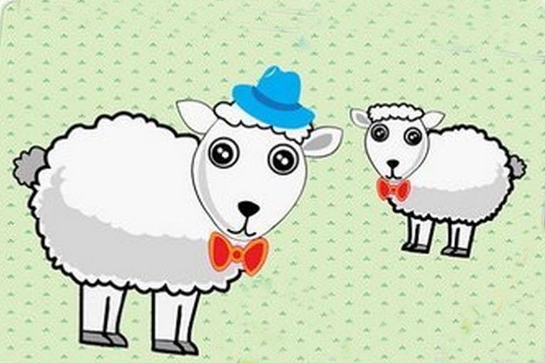 杨幂可爱小羊头像