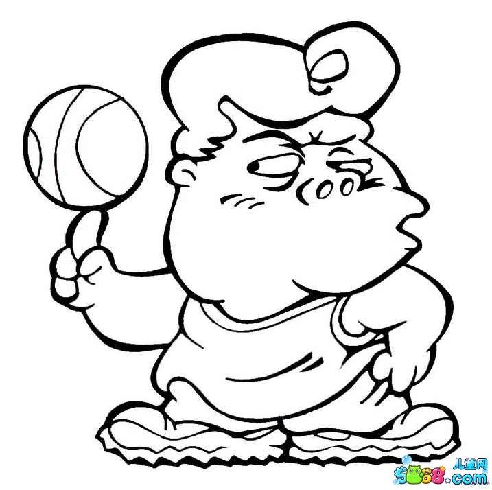 我来玩足球_人物简笔画-e学堂