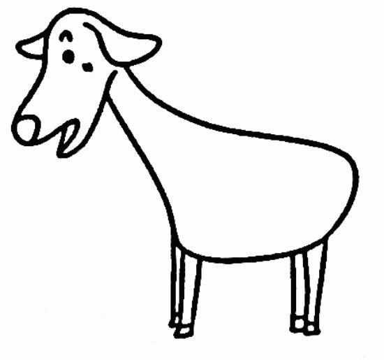 教你如何画山羊 尖角的山羊