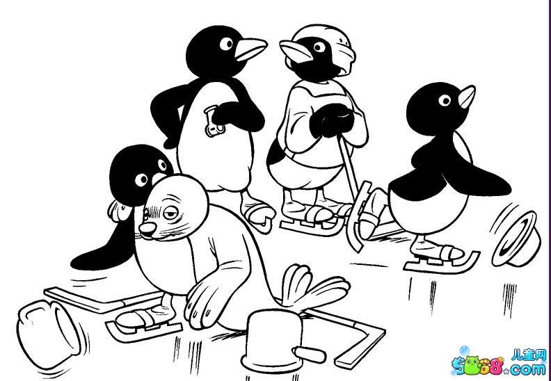 企鹅的世界_动漫简笔画-e学堂