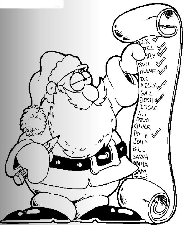 圣诞老人的许愿单_动漫简笔画-e学堂图片