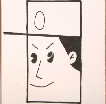 正方形简笔画之军人