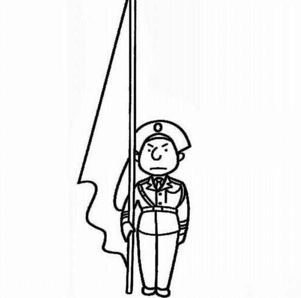 国旗图片简笔画