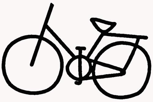 教你如何画自行车 简易自行车图片