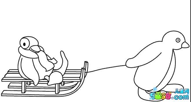 舒服的小企鹅_动漫简笔画-e学堂图片