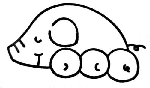 教你如何画小猪 小猪睡懒觉 _简笔画教程-e学堂