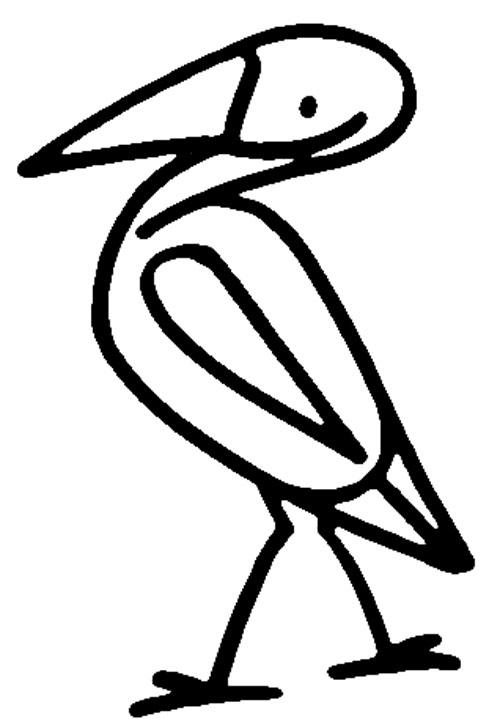 白鹤图案简笔画