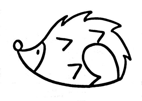 教你如何画刺猬 蜷缩的刺猬 _简笔画教程-e学堂