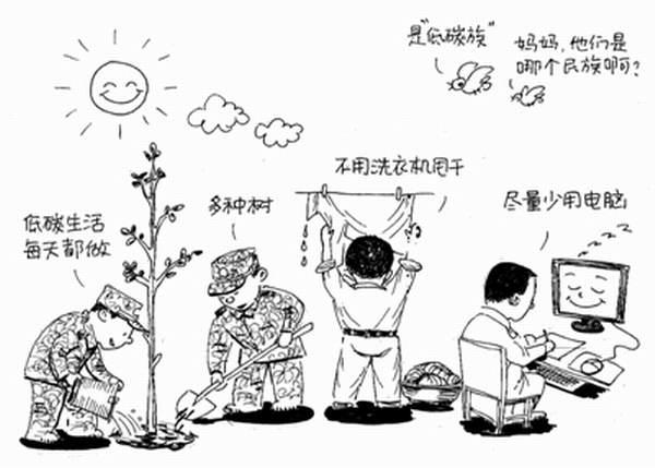 低碳生活_人物简笔画-e学堂
