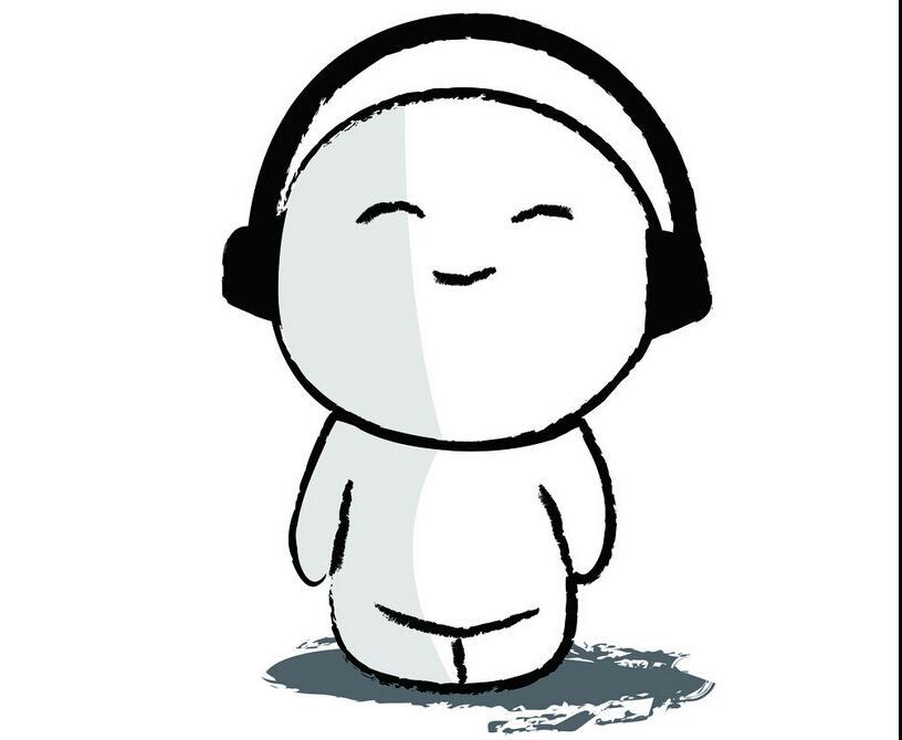 听音乐的小男孩_人物简笔画-e学堂