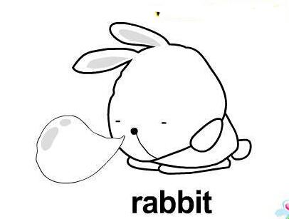 熟睡的小兔子