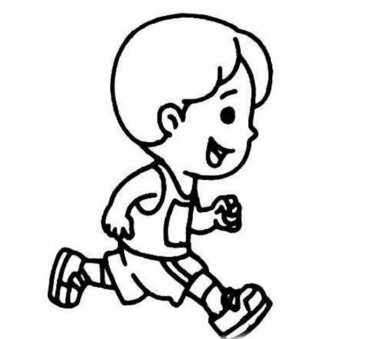 快乐奔跑的小男孩_人物简笔画-e学堂