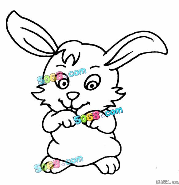 可爱的玉兔_动物简笔画-e学堂