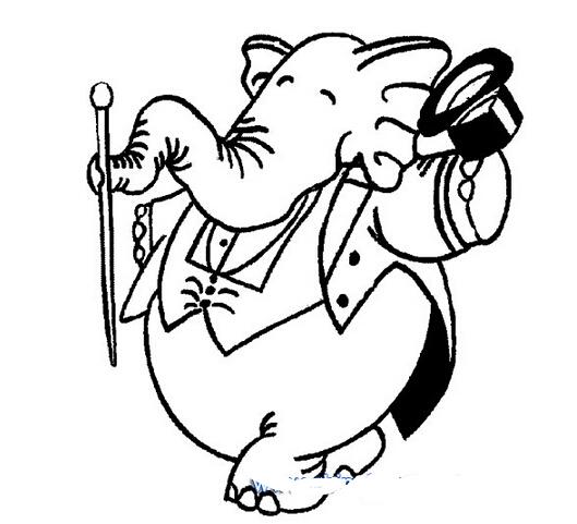 大象跳芭蕾_动物简笔画-e学堂