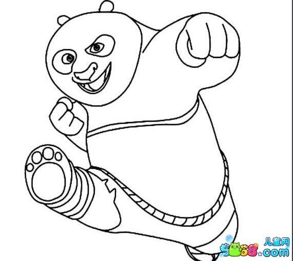 熊猫会功夫_动漫简笔画-e学堂