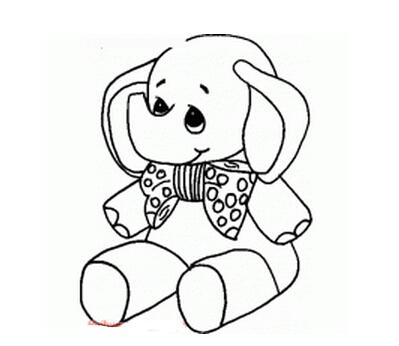 坐着发呆的小象_动物简笔画-e学堂
