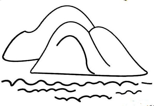 简单的山水描绘_风景简笔画-e学堂